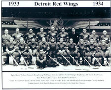 1933 1934 DETROIT RED WINGS 8X10 TEAM PHOTO HOCKEY NHL STANLEY CUP MICHIGAN