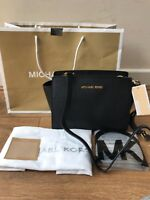 BNWT Michael Kors Black Selma Medium Messenger Crossbody bag Rrp £220