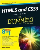 HTML5 and CSS3 All-in-one for Dummies, Paperback by Harris, Andy, Brand New, ...