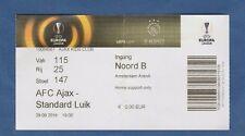 Orig.Ticket   Europa League 2016/17   AJAX AMSTERDAM - STANDARD LÜTTICH / LIEGE