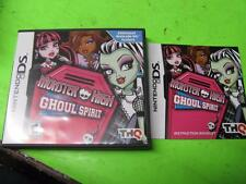 MONSTER HIGH GHOUL SPIRIT ~ NINTENDO DS CASE & MANUAL ONLY (NO GAME)
