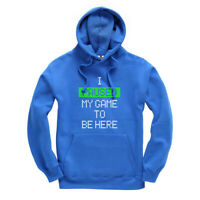 I Paused My Game To Be Here (GREEN BOX) Kids Hoodie Hooded Sweatshirt Ages 3-13