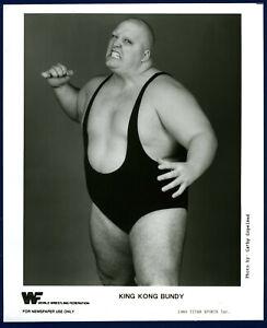 WWF ORIGINAL Vintage KING KONG BUNDY TYPE 1 PHOTO ! OFFICIAL PROMO ! RARE ! WWE