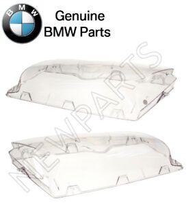 For BMW E46 325i 330i Pair Set of Left & Right Headlight Lens Plastic Genuine