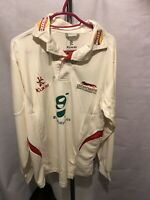"""Kukri Leicestershire Foxes C.C.C. White Long Sleeve Shirt Size S 38"""" ( W513 )"""
