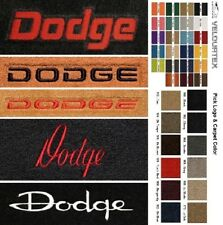 Lloyd Mats Dodge Custom Embroidered Dodge Word Velourtex Front Floor Mats
