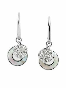 Fossil Ohrringe Damen Ohrringe Edelstahl Silber Weiß Glas JF03140040