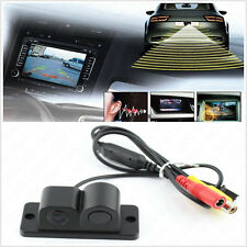 DUAL Function Wide Angle CCD Radar Vehicles Reversing Backup Parking Camera Kit