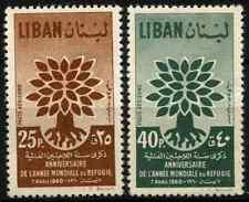 Lebanon 1960 SG#647-8 World Refugee Year 1st Printing MNH Set #D33241