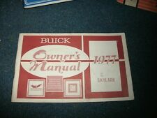 1977 Buick Skylark Factory Original Owners Manual Nice Complete Original