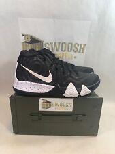 a4bc23049ae Nike Kyrie 4 TB Mens AV2296-001 Black White Irving Basketball Shoes Size 9.5
