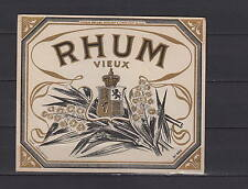 Ancienne étiquette    Alcool  France Rhum Vieux  Blason