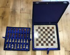 Marble/stone Vintage Chess Set Solid Pieces - 30cm X 30cm board
