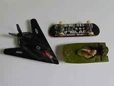 Matchbox 1976 Boat, Black Label Teck Deck, USAF Airplane TOY Lot (3)