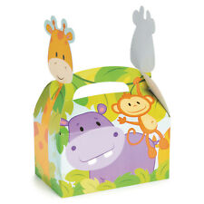 12 Zoo SAFARI JUNGLE Animal Treat Boxes BABY SHOWER birthday Party LOOT BAG