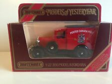 MATCHBOX MODELS OF YESTERYEAR Y-22 1930 MODEL A FORD VAN CANADA POST