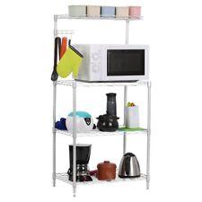 New 4 Tier Kitchen Rack Microwave Oven Stand Storage Cart Workstation Shelf