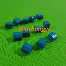 2Pin 2P Screw blue PCB Terminal Block Connector 5mm Pitch New 10pcs