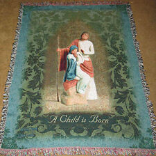 Willow Tree The Christmas Story Nativity Tapestry Afghan Throw