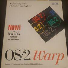Vintage Rare IBM OS/2 Warp Version 3 plus Bonus Pak DOS Windows CD-ROM Diskettes