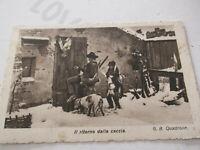 Carte Postale Vintage Illustré Chasse ( G.B.Quadrone ) Shipped 1942