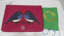"""C Wonder """"Love Birds"""" Zip Top Pouch - By Christopher Burch W/Cover"""