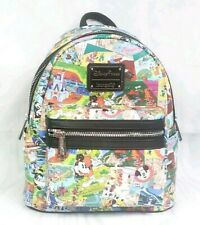 Disney Parks Map Attractions Retro Mini Backpack Loungefly 2019 Mickey Castle