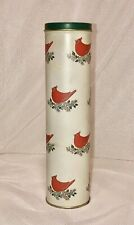 Vintage Wild Birds Unlimited Christmas Matches Tin Cardinal Holly 9.5 X 2.5�