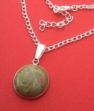 NEW! Unakite Gemstone Handmade Unique Pendant Necklace - Aussie Seller!!!