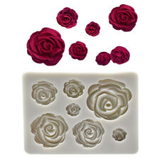 Flower Sugar Craft Mould Mini Soap Chocolate Wedding Cake Decor Mold Tools Rose