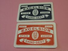 2 losse speelkaarten / 2 single playing cards / 2 cartes BIEREN EXCELSIOR , GENT