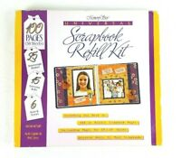 """Memory Stor Universal Scrapbook Refill Kit Archival 12""""x12"""" NEW 100 Pages"""