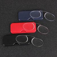 Portable Mini Nose Clip Reading Glasses Optics Presbyopic Ultra 1.0 2.0 3.0