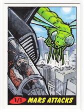 2012 TOPPS MARS ATTACKS HERITAGE 50th Anniversary Van Davis 1/1 Sketch Card