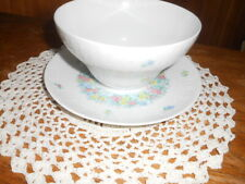 Rosenthal Germany Garland Multicolor Romance 1 Piece Gravy Boat and Underplate