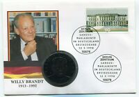 Willy Brandt Memorial Medal 1992 from Germany in Numiscover with Parliament