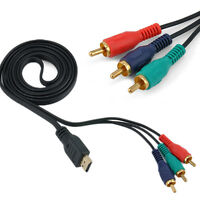 1.5M HDMI Male to 3 RCA Audio Video AV DVD 1080P Transmit Cord Cable Adapter