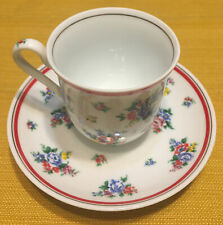 KENZO Tea Coffee Cup Saucer FLORAL PATTERN Japan Pretty
