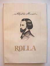 ALFRED DE MUSSET : ROLLA . EAUX-FORTES PAR COURBOULEIX . EO N°/330 . SIGNÉ