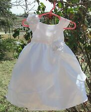 White Baptism/Christening Baby Girl dress SIZE 18 Months