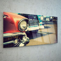 Glass Picture Wall Art Canvas Digital Print in ANY SIZE Classic Cars 52543642