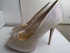 Jennifer Lopez Blingy Blush Peep Toe- Platform Heels, Size: 10 M US
