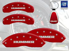 2010 Hummer H3 Alpha MGP Brake DIsc Caliper Covers  Front Rear Hummer Red