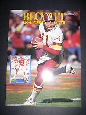 Beckett Football Monthly #23 Mark Rypian & Harvey Williams Beckett Feb 1992