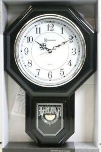Brand New Timekeeper 17'' Pendulum Black Wall Clock 180BWAC Sealed (LOC 42M)