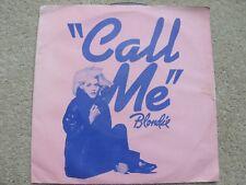 """Blondie Call Me 7"""" UK Vinyl Single"""