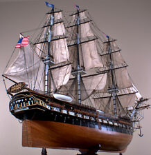 "USS CONSTITUTION 52"" wood model ship large scaled American sailing boat"