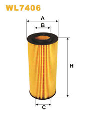 WIX WL7406 Car Oil Filter Eco Cartridge Replaces HU7214x CH9994ECO OX1773D