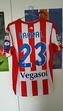 camiseta Sporting Gijon Match Worn David Barral Shirt Auténtic Trikot Maglia L