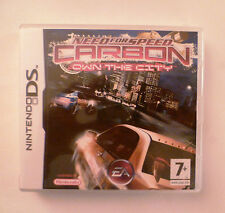 JEU NINTENDO DS NEED FOR SPEED CARBON OWN THE CITY + Livret